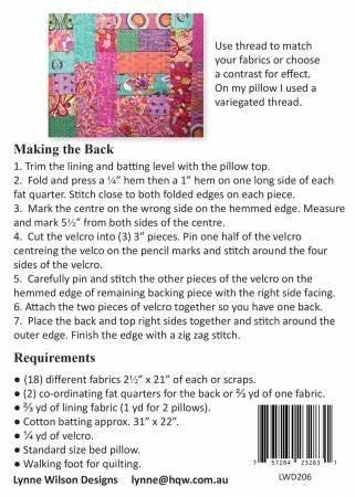 Pattern:  Snuggle PIllow (fits standard size)