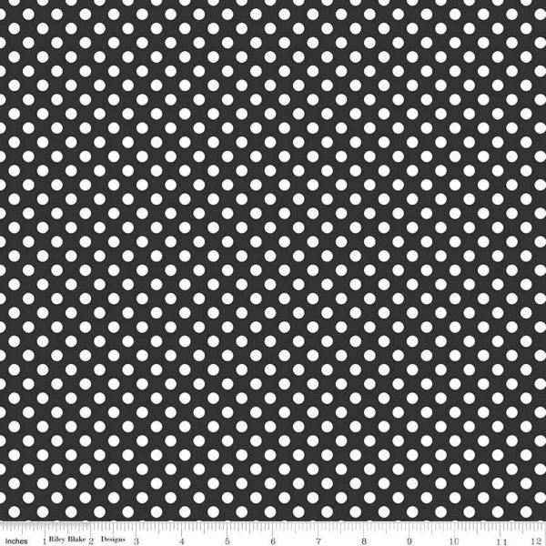 RB Small Dots Black - 1 yard