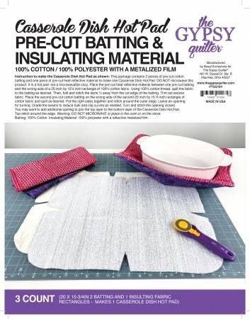 Casserole Hot Pad Batting & Pattern (Makes 1)