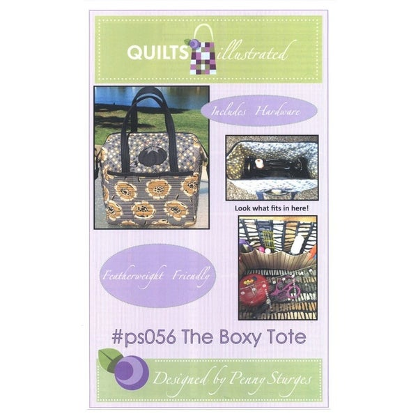 Pattern:  The Boxy Tote (Includes 2 metal Stays) *Final Sale*