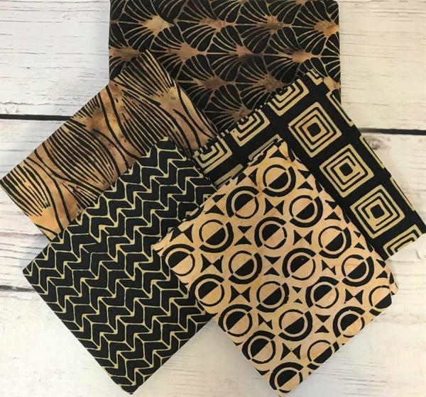 BYOK - Black and Gold Batik kit (2 1/2 yards fabric)