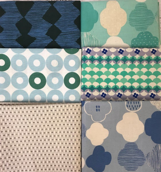 Fat Quarter Bundle (6) Blue and Aqua