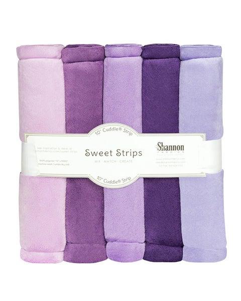 """Cuddle Sweet Strips (5) 10"""" strips x 60"""" - Purple"""