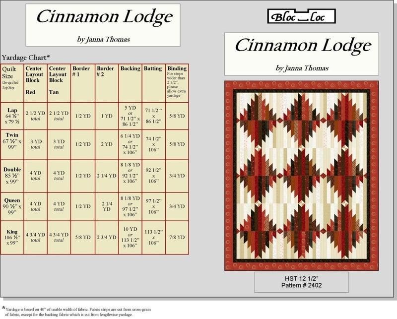 Pattern: Cinnamon Lodge