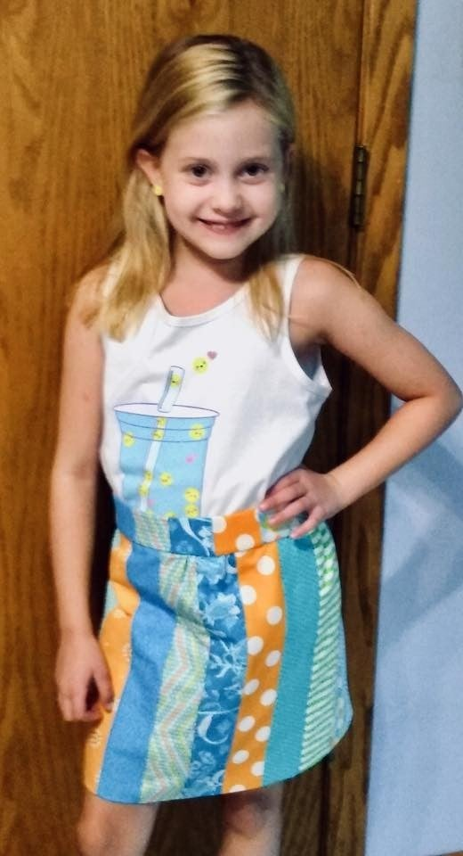 Stripping Adorable Girl's Skirt  Size 2 - 12