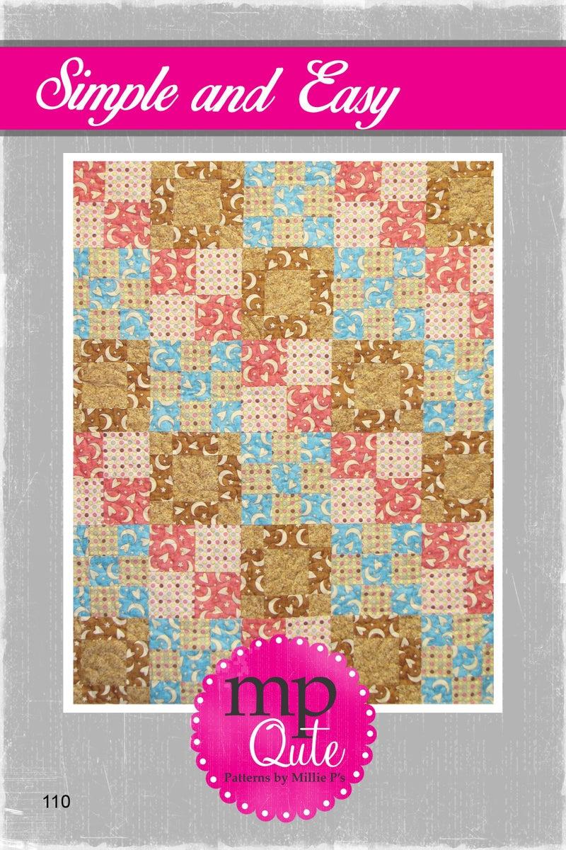 "MP Qute Pattern:  Simple & Easy 30"" x 36"" *Final Sale*"