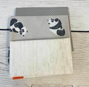 June Tailor Lunch Box Zipper Grey with Panda & Batting Kit