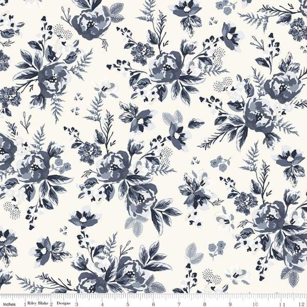 Riley Blake  Gingham Foundry Floral Cream - 1 Yard