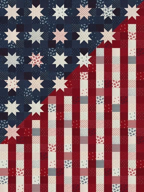 "Kit:  Moda American Gathering Quilt (makes full size 54"" x 72"" & mini (27"" x 36"")"