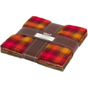 "Plaid Layer Cake (Fall Colors) (42) 10"" pieces"