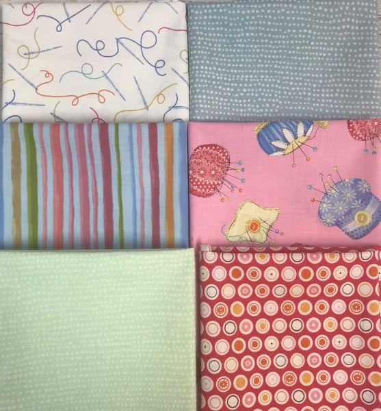 Fat Quarter Bundle (6) Sewing Room