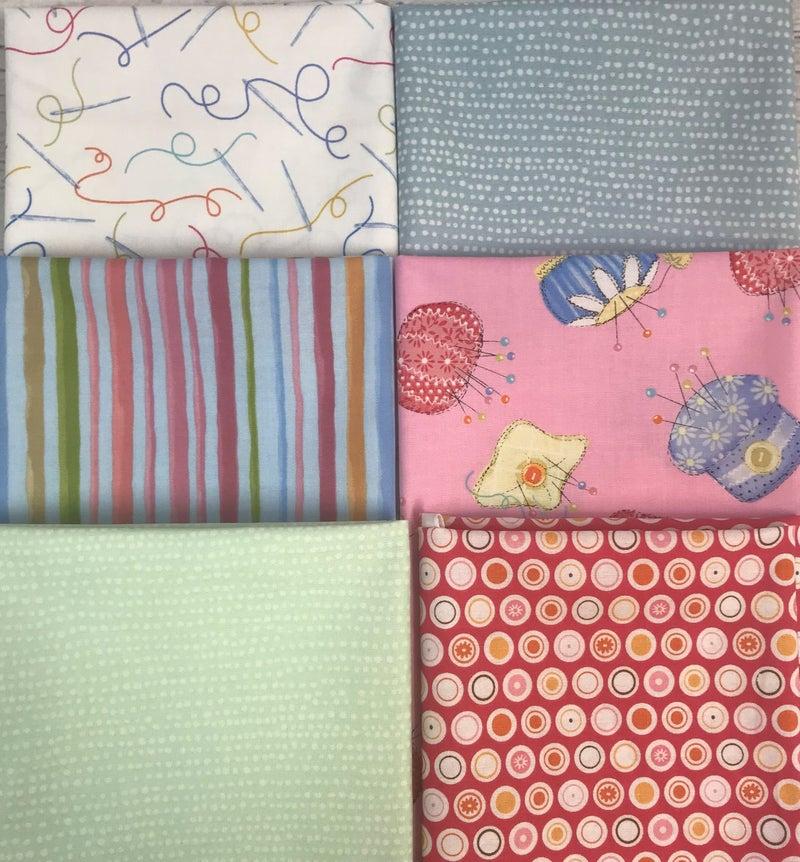 Fat Quarter Bundle (6) Sewing Room
