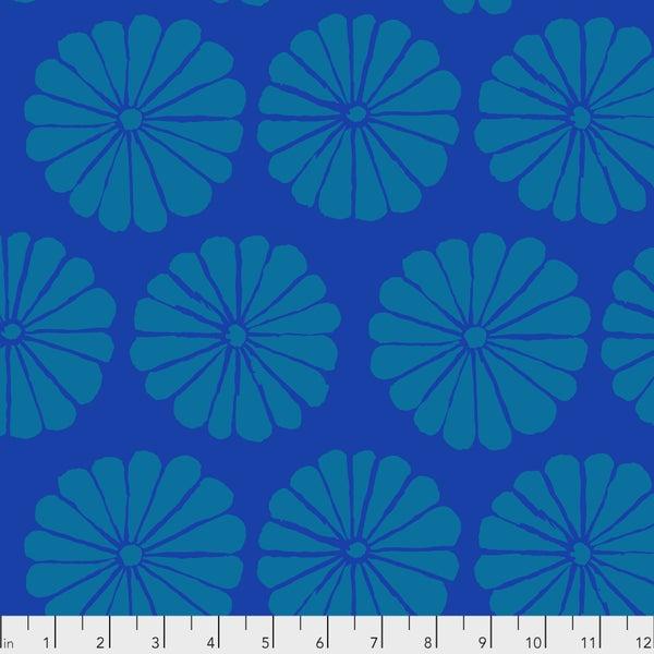 Kaffe -  Damask Flower - Blue - One Yard Cut