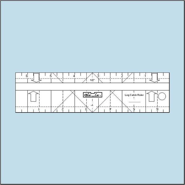 Log Cabin Ruler 1/2″ & 1″