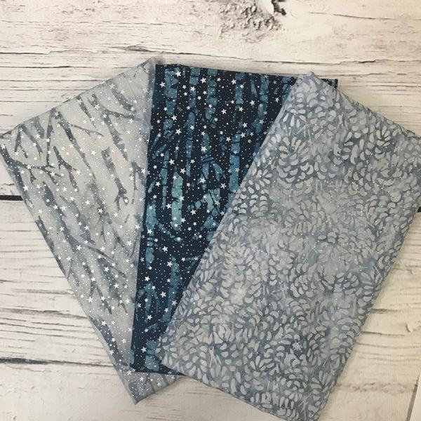 One Yard Cuts (3) - Magical Winter Batik