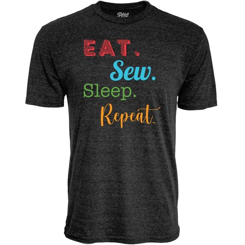 Eat Sleep Sew Repeat Grey SS