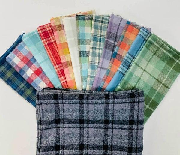 Kit:  Organic Cotton Flannel Coordinates