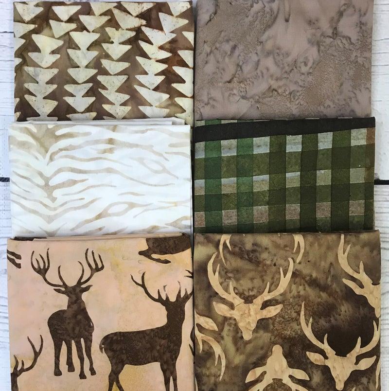 FQ Bundle (6) Batik Plaid Elks