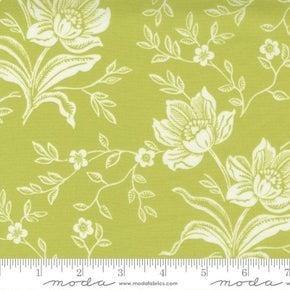 Moda  Woodcut Floral Green (72 x 108)