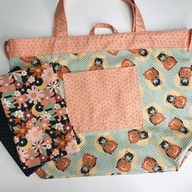 Simple Sack Kitty Corn Floral - Black - Need pattern