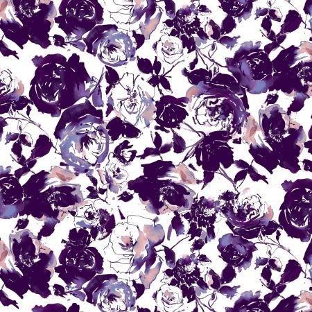 RJR Ink Rose Garden Deep Purple - 1 Yard