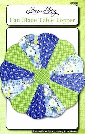 Pattern: Fan Blade Table Topper 24.5 Round