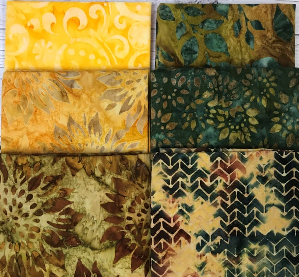 Fat Quarter Bundle (6) Batik Summer Meadow