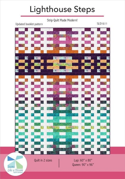 """Kit:  Lighthouse Steps 60"""" x 80"""" (Need Pattern) Inc. fabric for top & binding"""
