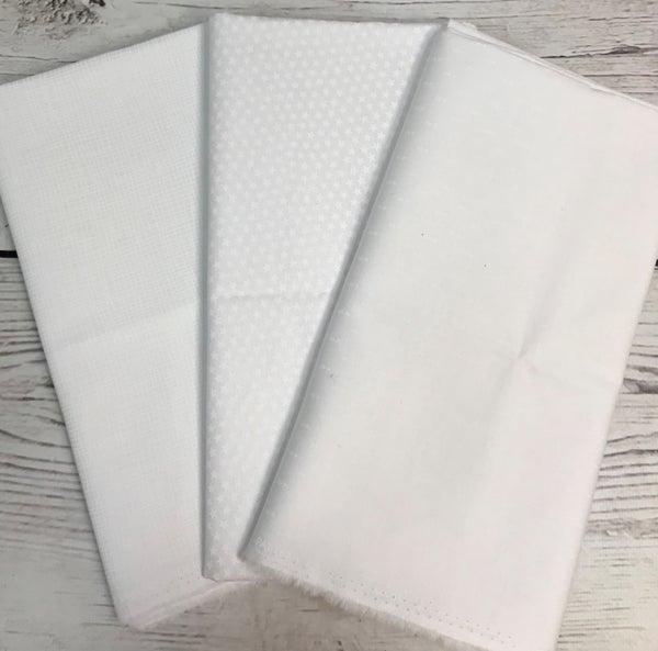 One Yard Cuts (3) - White on White