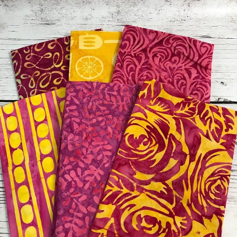FQ Bundle (6) Pink Batik