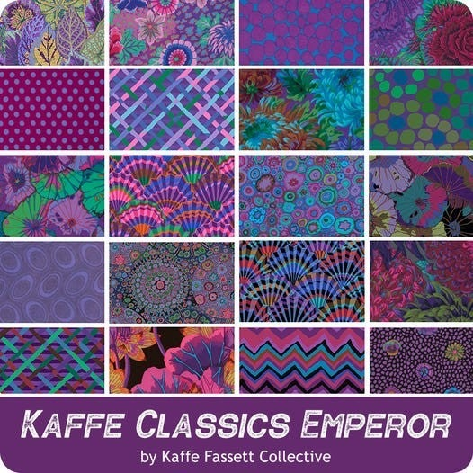 Kaffe - Collective February 2021  10 inch Layer Cake - Emporer