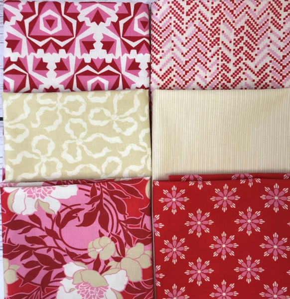 Fat Quarter Bundle (6) Red Roses