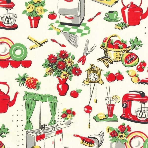 Fifties Kitchen One-Half Yard Cut 42""