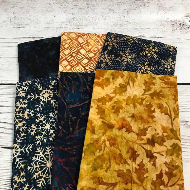 FQ Bundle (6) Batik Snowflake