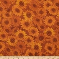 "Wideback 108"" Sunflower Whispers One Yard Russet"