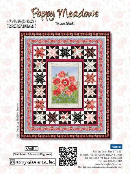 "Poppy Meadows Quilt Kit 57"" x 65"""