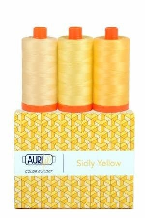 Aurifil Color Builder Yellow (3 Spools 50 wt)
