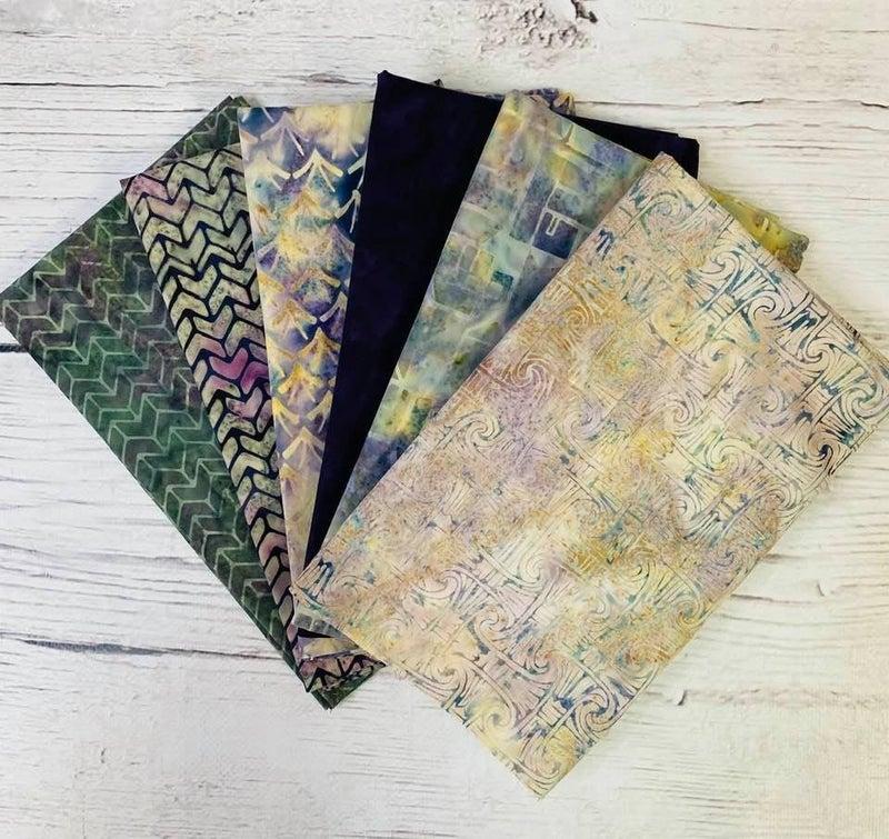 Batik Bundle Six Half-Yard Cuts Purple Fusion
