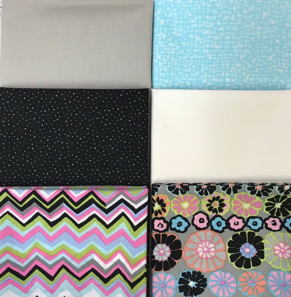 Fat Quarter Bundle (6) Kaffe Pink and Black