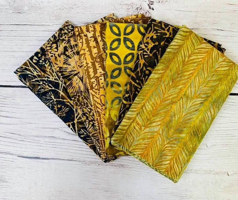 Batik Bundle Six Half-Yard Cuts Pine Grove