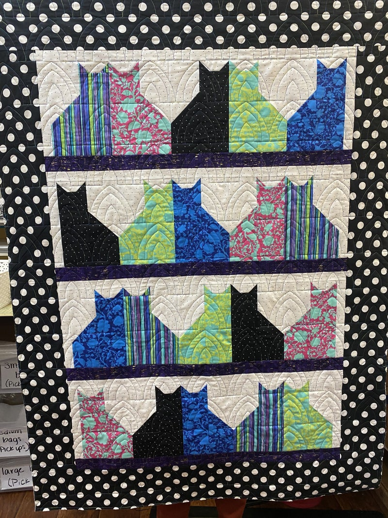 "Kit : Tula's Cat City 42"" x 56"" Includes fabric, binding & pattern"