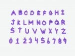 Pinnable Block Markers Lilac (36 pieces A-Z & 0-9)