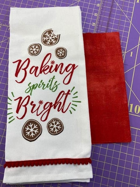 Towel Cowl Baking Spirits Bright