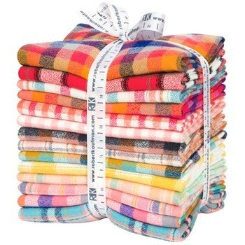 Mammoth Flannel FQ Bundle Warm (14 fats)
