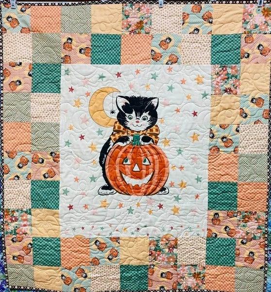 "Kit:  Kitty Corn Panel Perfect  41"" x 45.5"" (Inc. Ptrn & Binding)"