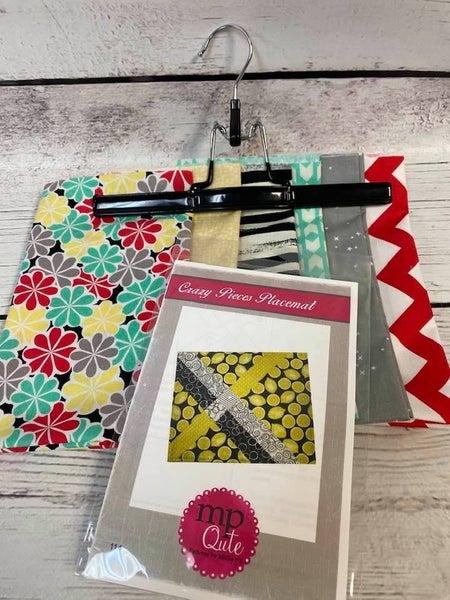 Kit:  Crazy Pieces Placemat Flowers Inc. Pattern
