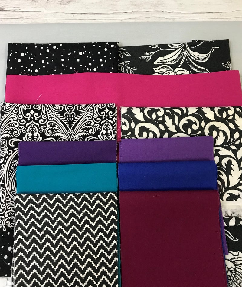 Kit:  Strips and Bars -Black and Cream 48x60 (includes pattern)