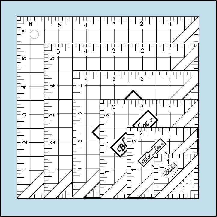 Half-Square Triangle Ruler Set #1