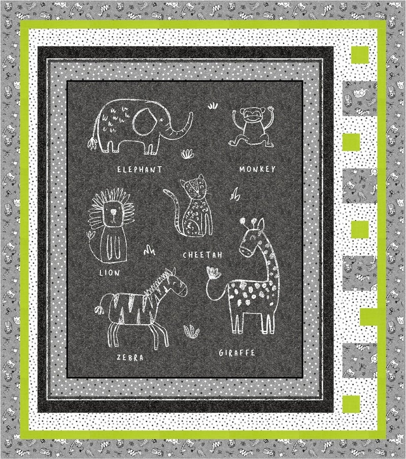 "Kit:  Chalkboard Animals Panel Kit 46"" x 52"" Inc. Ptrn"