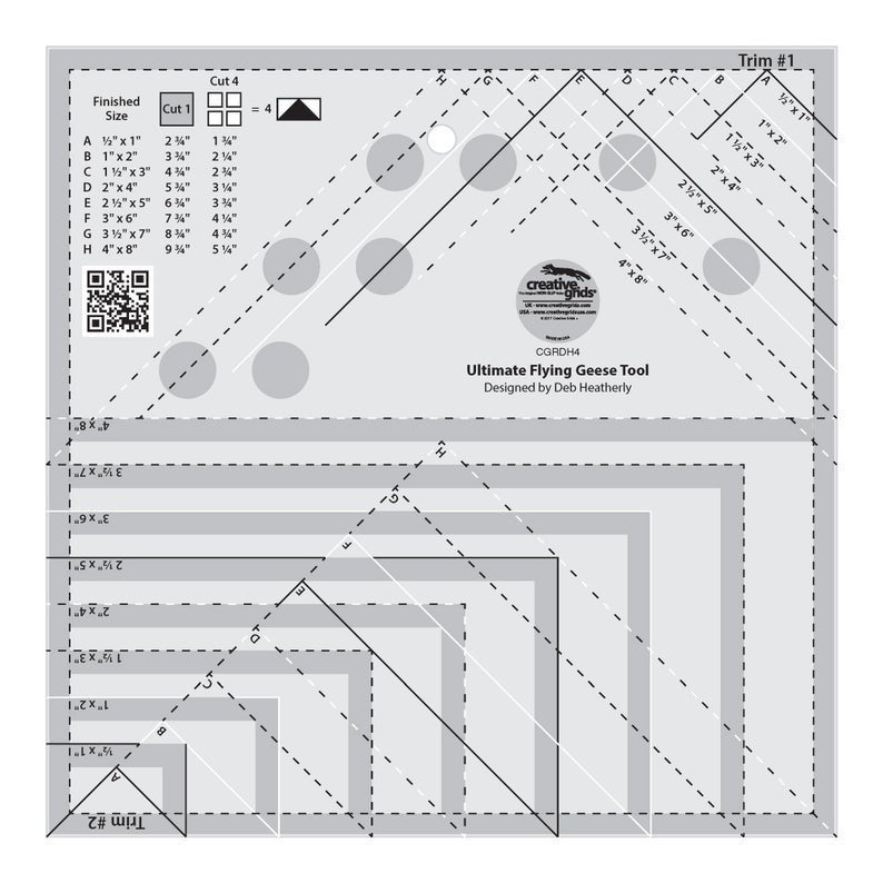 Creative Grids Ultimate Flying Geese Ruler: Flight North